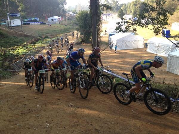 Mad Rush at the Start - Tommy Olsson gets the holeshot, with Jimmy Redman up on the inside